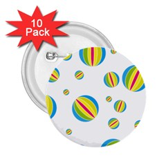 Balloon Ball District Colorful 2 25  Buttons (10 Pack)  by BangZart