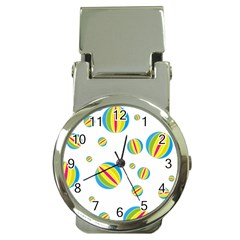 Balloon Ball District Colorful Money Clip Watches