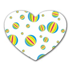 Balloon Ball District Colorful Heart Mousepads
