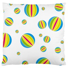 Balloon Ball District Colorful Large Cushion Case (two Sides)