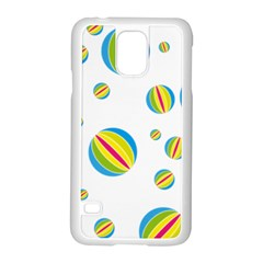 Balloon Ball District Colorful Samsung Galaxy S5 Case (white)