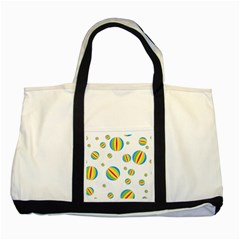 Balloon Ball District Colorful Two Tone Tote Bag