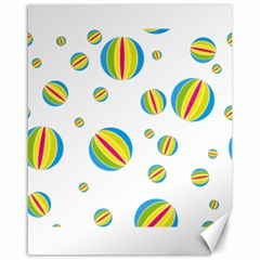 Balloon Ball District Colorful Canvas 16  X 20