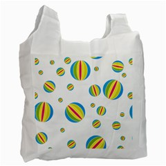 Balloon Ball District Colorful Recycle Bag (two Side)  by BangZart