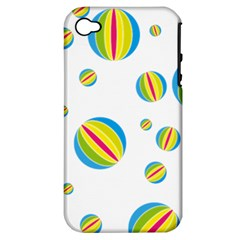 Balloon Ball District Colorful Apple Iphone 4/4s Hardshell Case (pc+silicone)