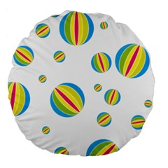 Balloon Ball District Colorful Large 18  Premium Round Cushions by BangZart