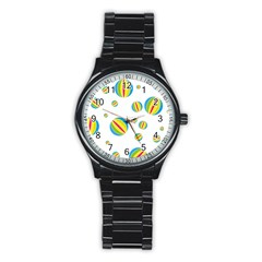 Balloon Ball District Colorful Stainless Steel Round Watch