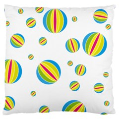 Balloon Ball District Colorful Standard Flano Cushion Case (two Sides)