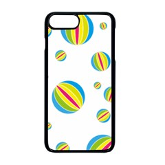 Balloon Ball District Colorful Apple Iphone 8 Plus Seamless Case (black)