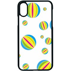 Balloon Ball District Colorful Apple Iphone X Seamless Case (black)