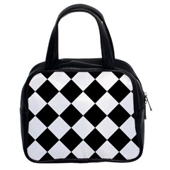Grid Domino Bank And Black Classic Handbags (2 Sides)