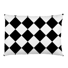 Grid Domino Bank And Black Pillow Case