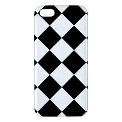 Grid Domino Bank And Black Apple Iphone 5 Premium Hardshell Case by BangZart