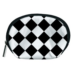Grid Domino Bank And Black Accessory Pouches (medium)  by BangZart