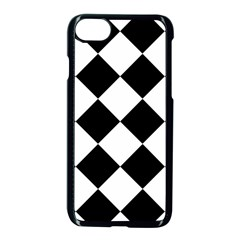 Grid Domino Bank And Black Apple Iphone 7 Seamless Case (black)