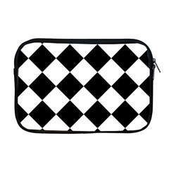 Grid Domino Bank And Black Apple Macbook Pro 17  Zipper Case