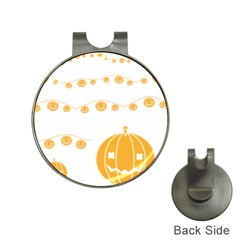 Pumpkin Halloween Deco Garland Hat Clips With Golf Markers