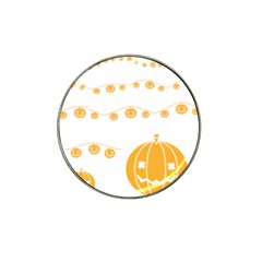 Pumpkin Halloween Deco Garland Hat Clip Ball Marker (4 Pack)