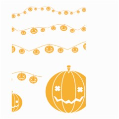 Pumpkin Halloween Deco Garland Small Garden Flag (two Sides)