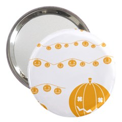 Pumpkin Halloween Deco Garland 3  Handbag Mirrors by BangZart