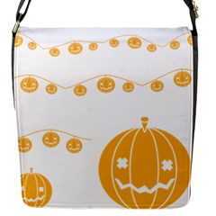 Pumpkin Halloween Deco Garland Flap Messenger Bag (s) by BangZart