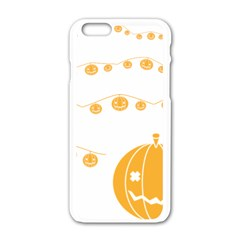 Pumpkin Halloween Deco Garland Apple Iphone 6/6s White Enamel Case by BangZart