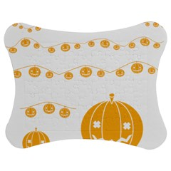 Pumpkin Halloween Deco Garland Jigsaw Puzzle Photo Stand (bow) by BangZart