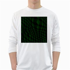 Pattern Dark Texture Background White Long Sleeve T Shirts