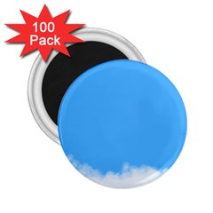 Sky Blue Blue Sky Clouds Day 2 25  Magnets (100 Pack)