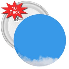 Sky Blue Blue Sky Clouds Day 3  Buttons (10 Pack)  by BangZart