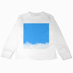 Sky Blue Blue Sky Clouds Day Kids Long Sleeve T Shirts by BangZart