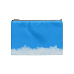 Sky Blue Blue Sky Clouds Day Cosmetic Bag (medium)