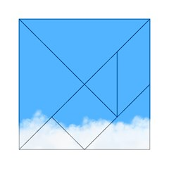 Sky Blue Blue Sky Clouds Day Acrylic Tangram Puzzle (6  X 6 ) by BangZart
