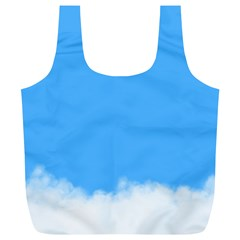 Sky Blue Blue Sky Clouds Day Full Print Recycle Bags (l)