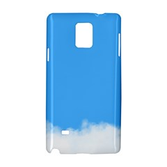 Sky Blue Blue Sky Clouds Day Samsung Galaxy Note 4 Hardshell Case by BangZart