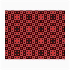 Abstract Background Red Black Small Glasses Cloth (2 Side)