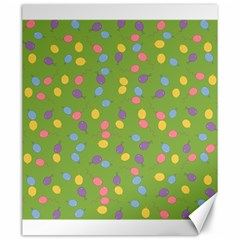 Balloon Grass Party Green Purple Canvas 20  X 24