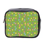 Balloon Grass Party Green Purple Mini Toiletries Bag 2-Side Front