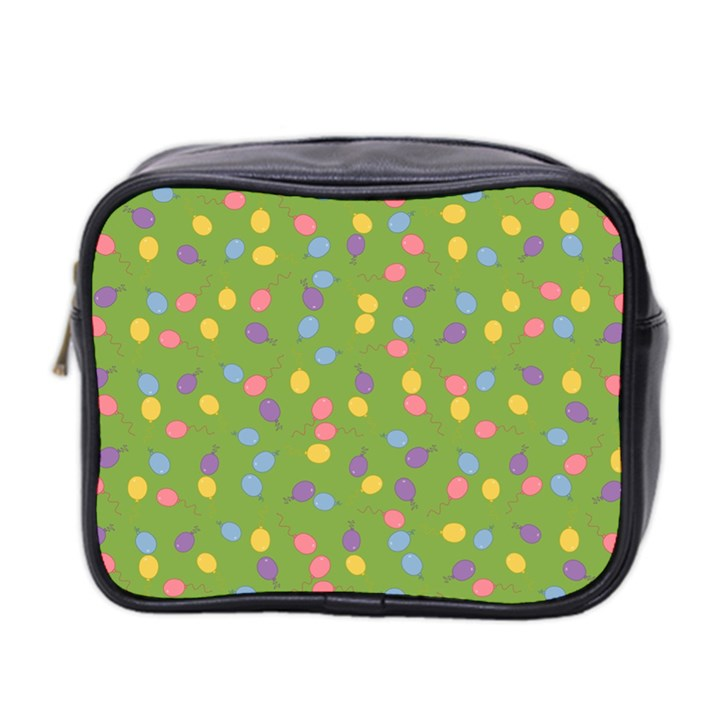 Balloon Grass Party Green Purple Mini Toiletries Bag 2-Side