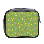 Balloon Grass Party Green Purple Mini Toiletries Bag 2-Side Back