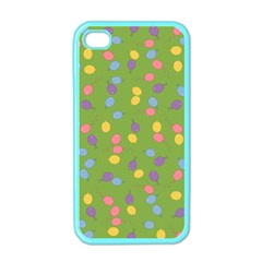 Balloon Grass Party Green Purple Apple Iphone 4 Case (color)