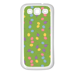 Balloon Grass Party Green Purple Samsung Galaxy S3 Back Case (white) by BangZart