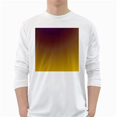 Course Colorful Pattern Abstract White Long Sleeve T-shirts by BangZart