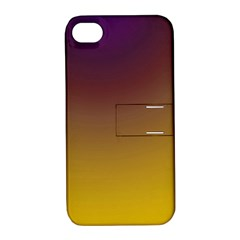 Course Colorful Pattern Abstract Apple Iphone 4/4s Hardshell Case With Stand