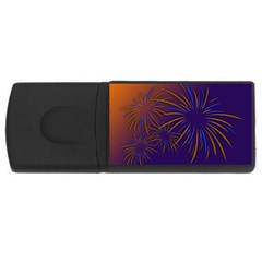 Sylvester New Year S Day Year Party Rectangular Usb Flash Drive