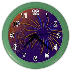 Sylvester New Year S Day Year Party Color Wall Clocks