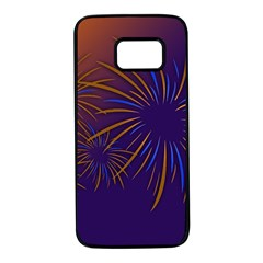 Sylvester New Year S Day Year Party Samsung Galaxy S7 Black Seamless Case