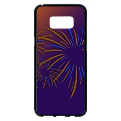Sylvester New Year S Day Year Party Samsung Galaxy S8 Plus Black Seamless Case