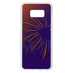 Sylvester New Year S Day Year Party Samsung Galaxy S8 Plus White Seamless Case