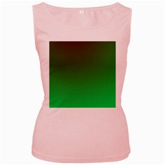 Course Colorful Pattern Abstract Women s Pink Tank Top